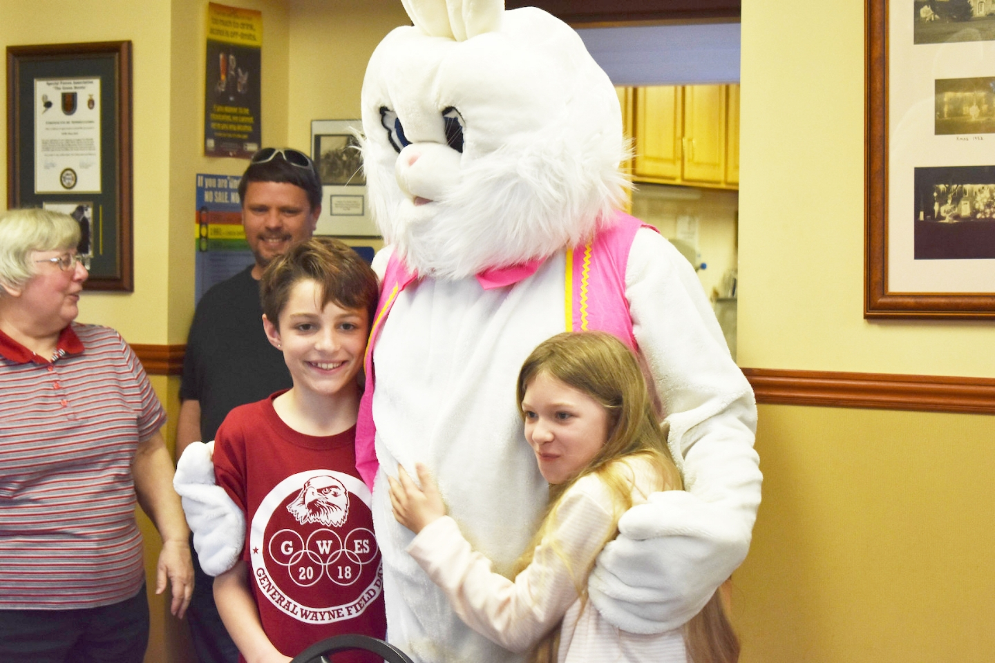 It's not hard for the Easter Bunny to make friends. 4/13/19.