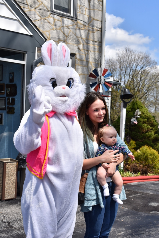 The Easter bunny delighted children at Post 845 on April 13, 2019.